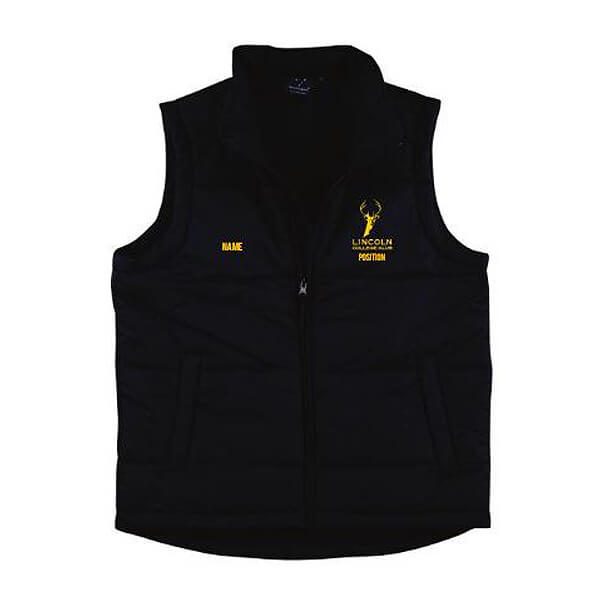 Lincoln Puffer Vest - Lincoln Student Accommodation Adelaide