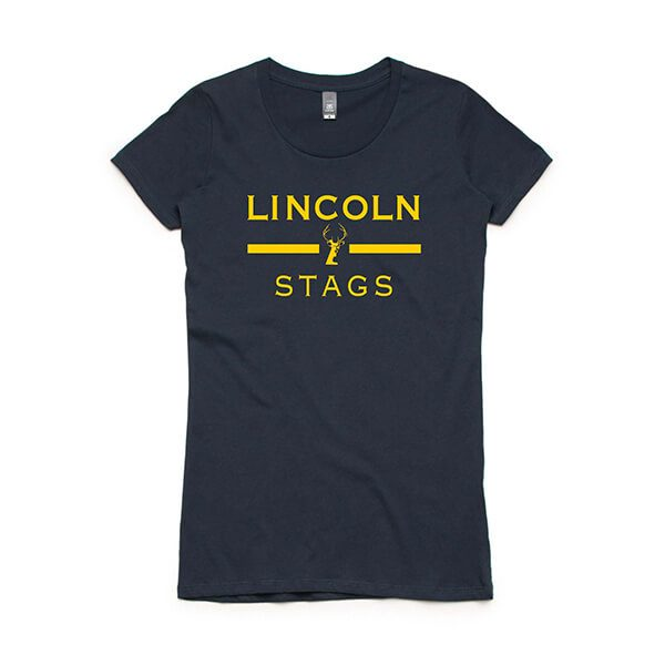 Lincoln Stags Cap Sleeve T-Shirt - Lincoln Student Accommodation Adelaide