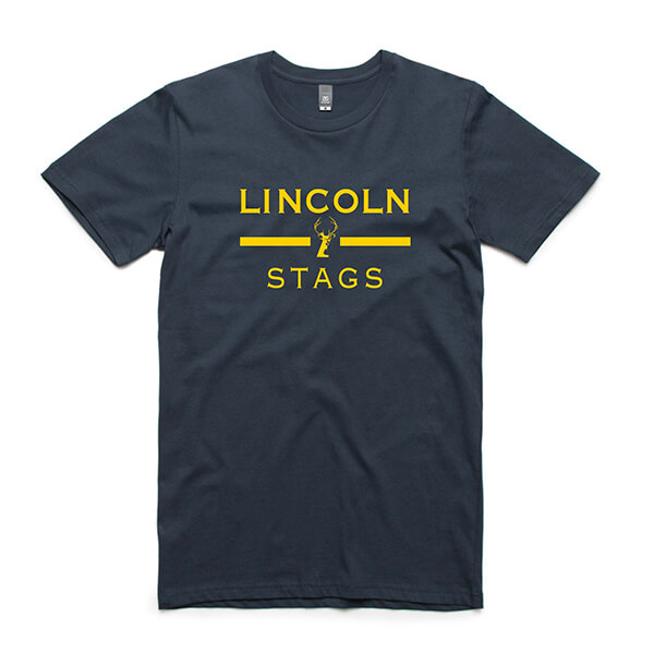 Lincoln Stags T-Shirt - Lincoln Student Accommodation Adelaide